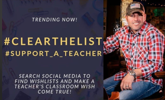 Texas Country Artists Stepping Up to Help Teachers w/ School